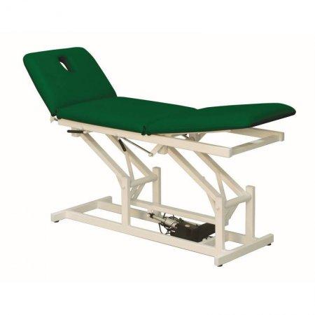 Stationäre Behandlungsliege mit grünem Bezug