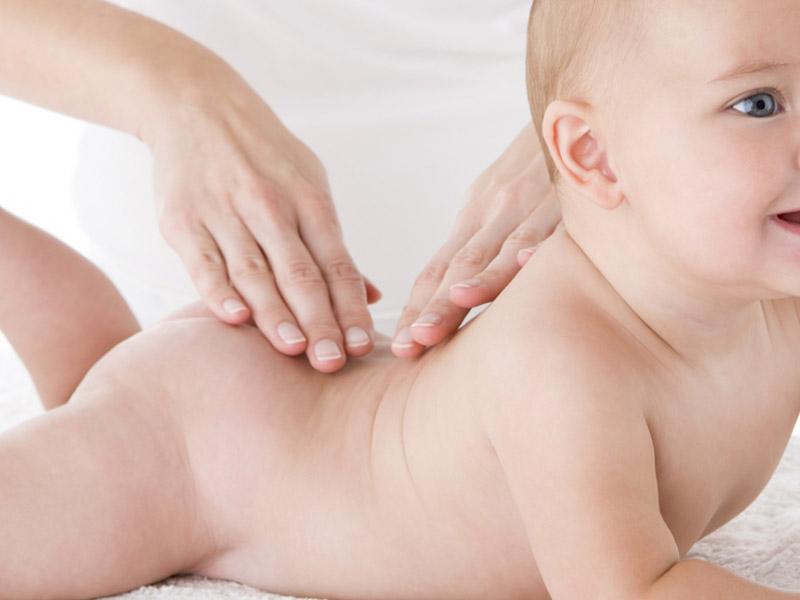 Anleitung Babymassage