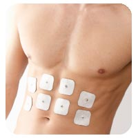 Elektromassage am Bauch