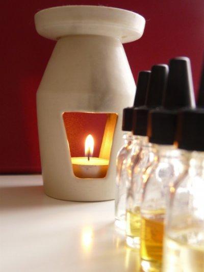 Entspannendes Ambiente mit Kerzenlicht