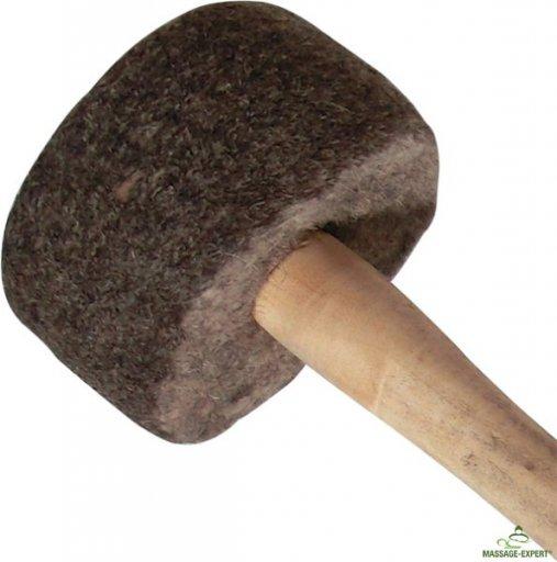 Filzschlägel mittelhart mit Holzgriff