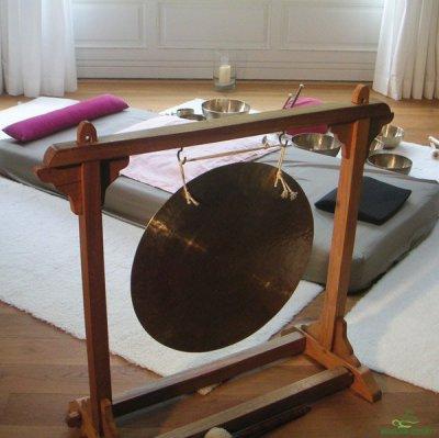 Gong für die Klangmassage in Bodenarbeit