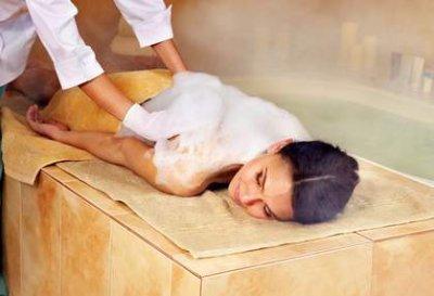 Wärmende Hammam-Massage