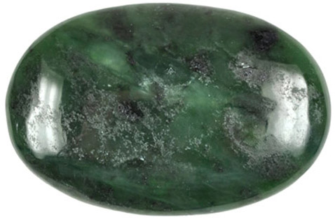 Jade-Linsenstein aus Nephrit