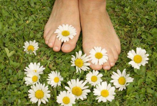 Massage mit Füßen