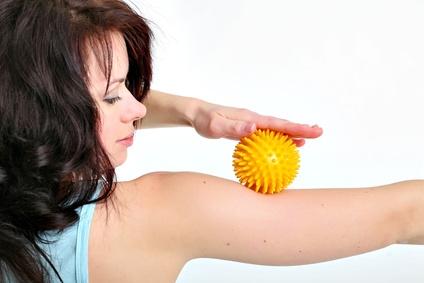 Massageball in gelb