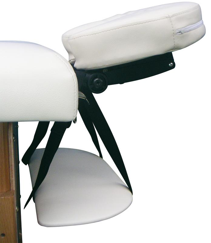 Kopfstütze und Armablage einer Massageliege