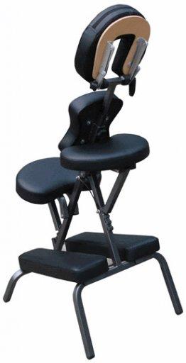 Massagestuhl für die mobile Massage in schwarz