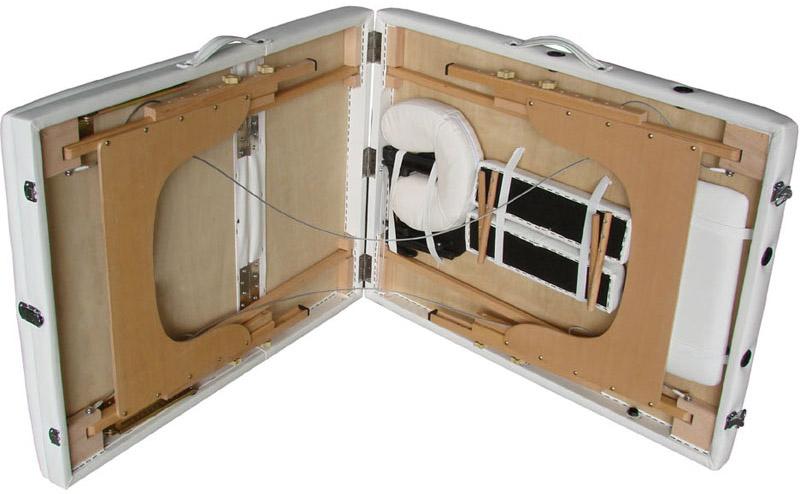 Mobile Massageliege als klappbare Kofferliege