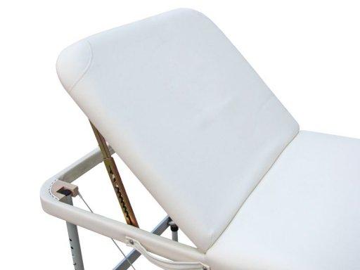 Mobile Massageliege mit neigbarem Fußteil