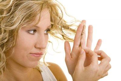 Sesamöl bei trockenem Haar