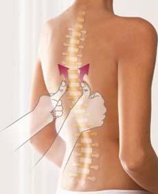 Shiatsu Massage auf dem Rücken